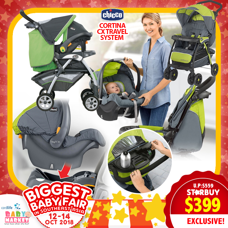 Chicco Cortina Cx Travel System Stroller Carseat