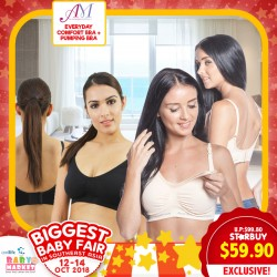 c9fc5a39355ef Annee Matthew Everyday-use Seamless Nursing Maternity Bra + Hands Free  Pumping Bra Bundle