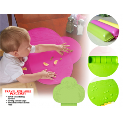MUMSPICK Travel Silicone Foldable Placemat