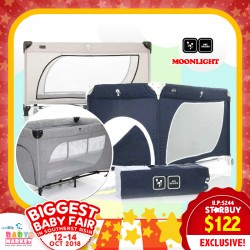 ABC Moonlight Playpen / Travel Cot (50% OFF!!)