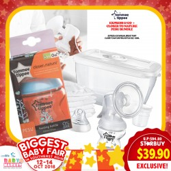 Tommee Tippee Express & Go Manual Breastpump FREE PESU Bottle 150ML