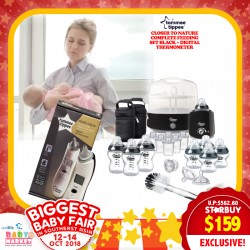 Tommee Tippee Closer to Nature Complete Feeding Set (BLACK / TEAL) + Digital Thermometer Bundle for $159 ONLY!!!