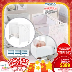 Micuna My Friend Baby Cot Co-Sleeper with Relax System (Made in SPAIN!!!) + 4