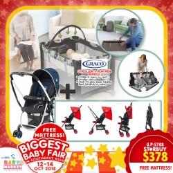 Graco Citilite R Stroller Pack N Play Folding Feet Playpen Free Antidustmite Mattress