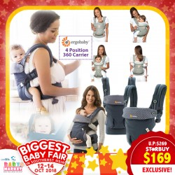 4a22cdc9150 Ergobaby 4 Position 360 Baby Hipseat Carrier (MOONSTONE   DUSTY BLUE)