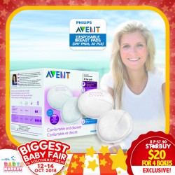 Philips Avent Disposable Breast Pads x 30 (Day Pads) Bundle of 4