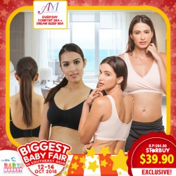 9afe59a3f64e4 Annee Matthew Everyday-use Seamless Nursing Maternity Bra + Dream Sleep Bra  Bundle