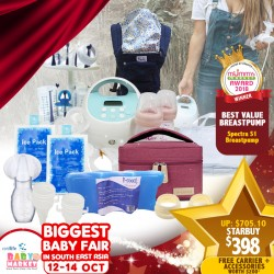 Award Winning Spectra S1 Breastpump + Baby Carrier + FREE Gifts worth $200+!! (Local Warranty from Distributor)