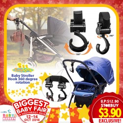 Babytoon Baby Stroller Hook 360 degree rotation - 2 Pack of Multi Purpose Hooks (70% OFF)