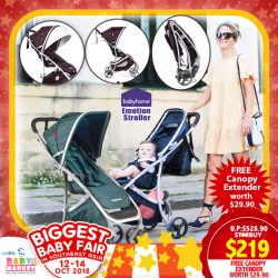 Babyhome Emotion Stroller FREE Canopy Extender UP TO 60% OFF!!
