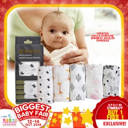 Mimosa Multi-purpose Bamboo Muslin Swaddle BUY 1 FREE 1 (4 Designs Available)!!!