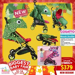 Cosatto Woosh Stroller (42% OFF!!) - (Additional Free Gift ONLY For EARLY BIRD SPECIAL*)