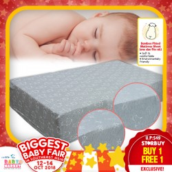 Baa Baa Sheepz Bamboo Fitted Mattress Sheet (BUY 1 FREE 1 !!!)