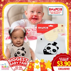 Snapkis Oh-So-Soft Silicone Bib Panda II 70% OFF!!
